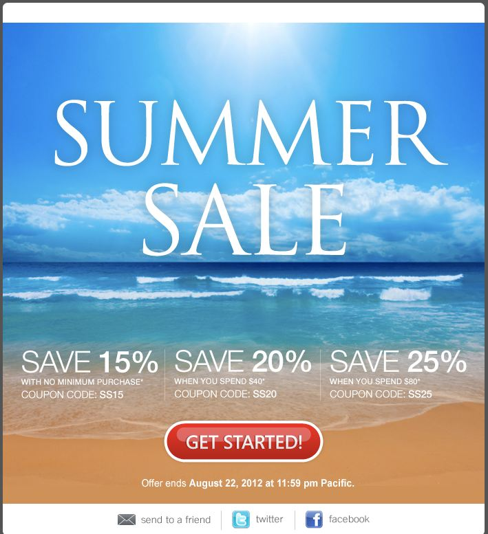 Domain SS1 Summer Sale  Choose Your Savings!  Up to 25% Off!