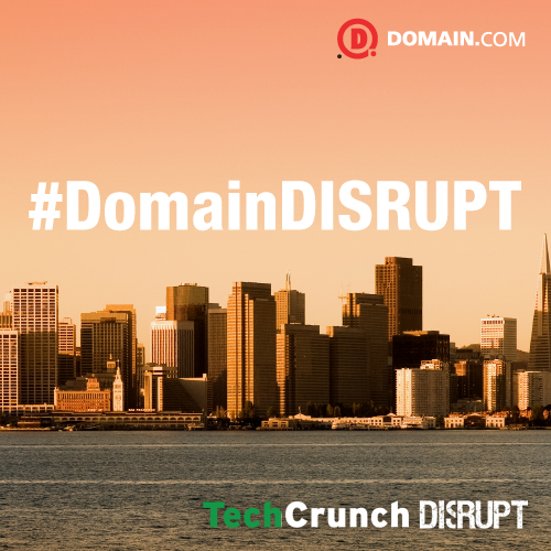 500X500 Giveaway Domain.com Sponsors TechCrunch Disrupt San Francisco!