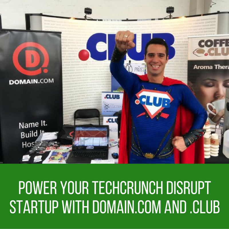 Power Your TechCrunch Disrupt Startup with Domain.com and .CLUB