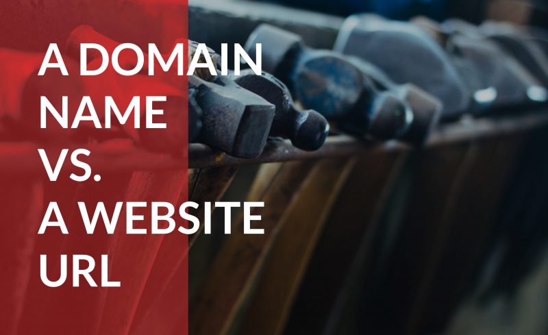 Learn the difference between a domain name and a website URL.