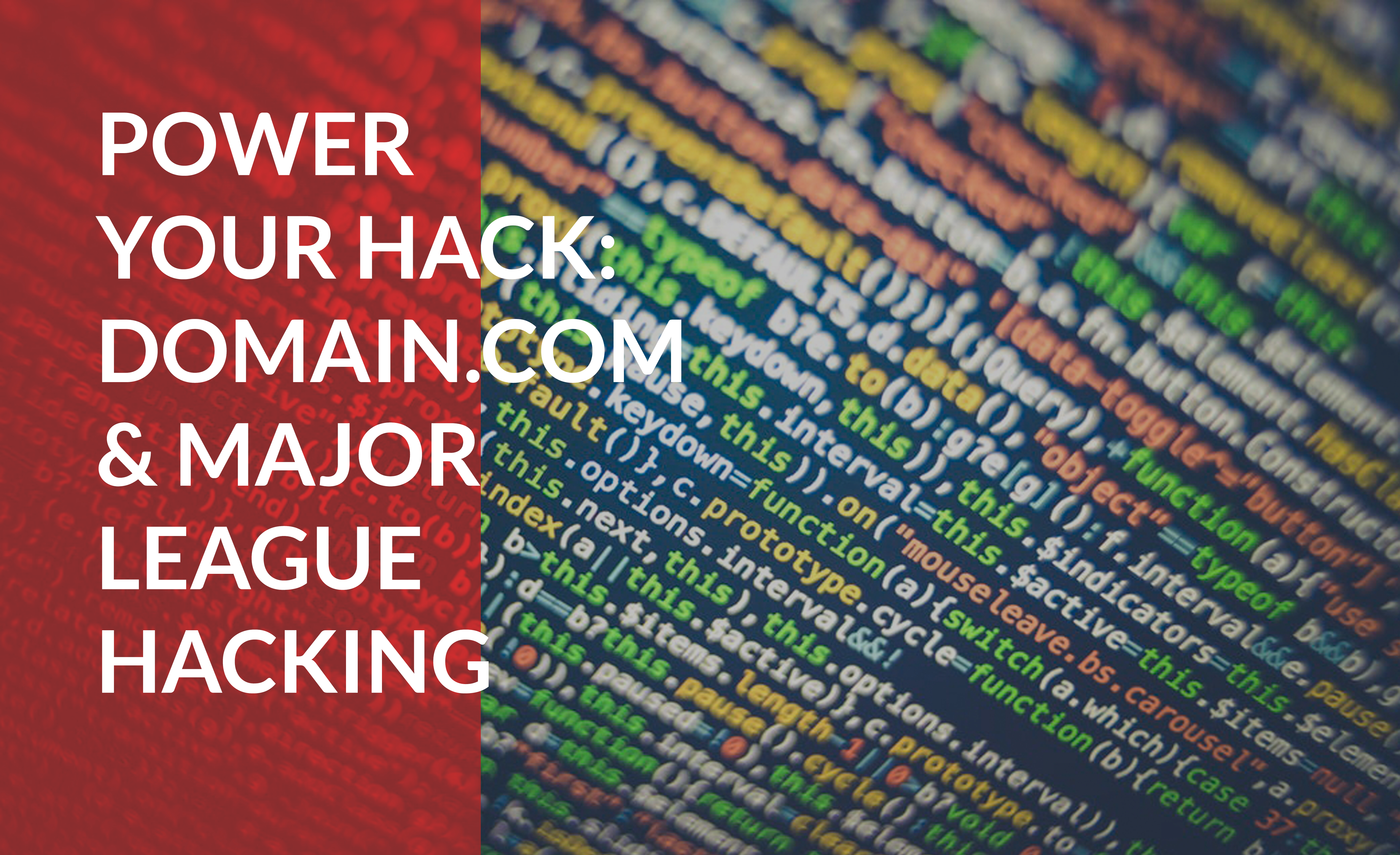 Learn to power your hack with Domain.com and Major League Hacking