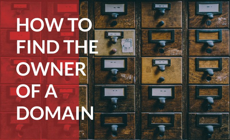How to find the owner of a domain