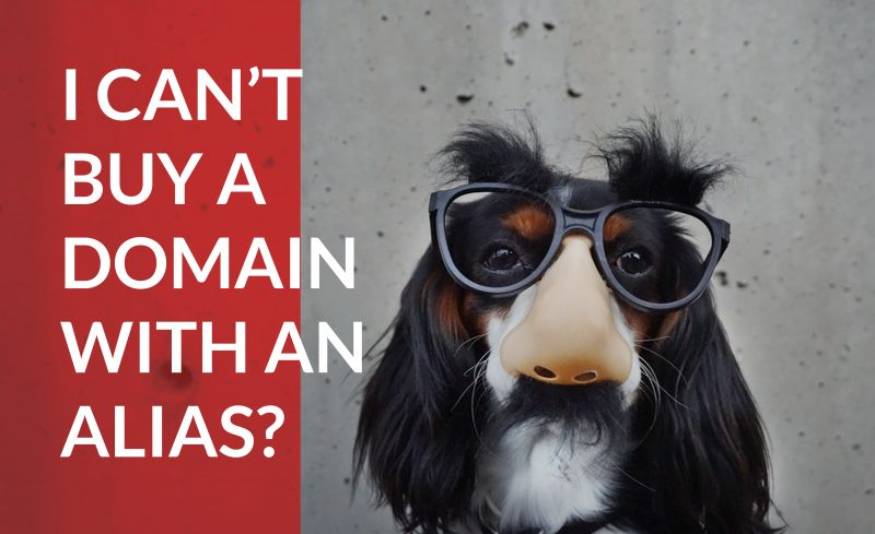 Find out why you have to buy a domain name with your legal name, and not an alias.