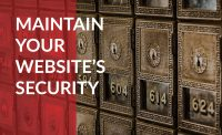 Maintain your website's security