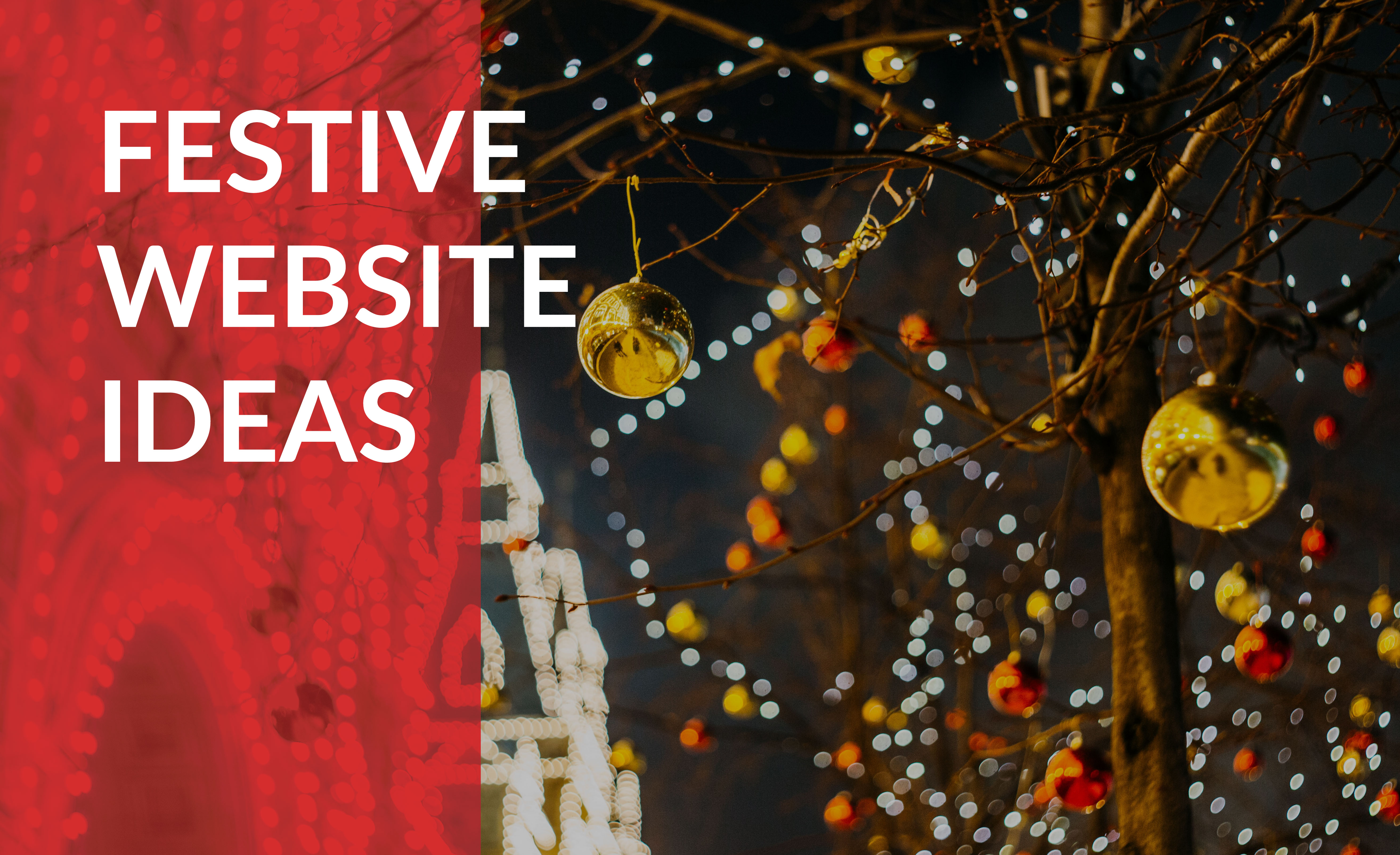 festive website ideas
