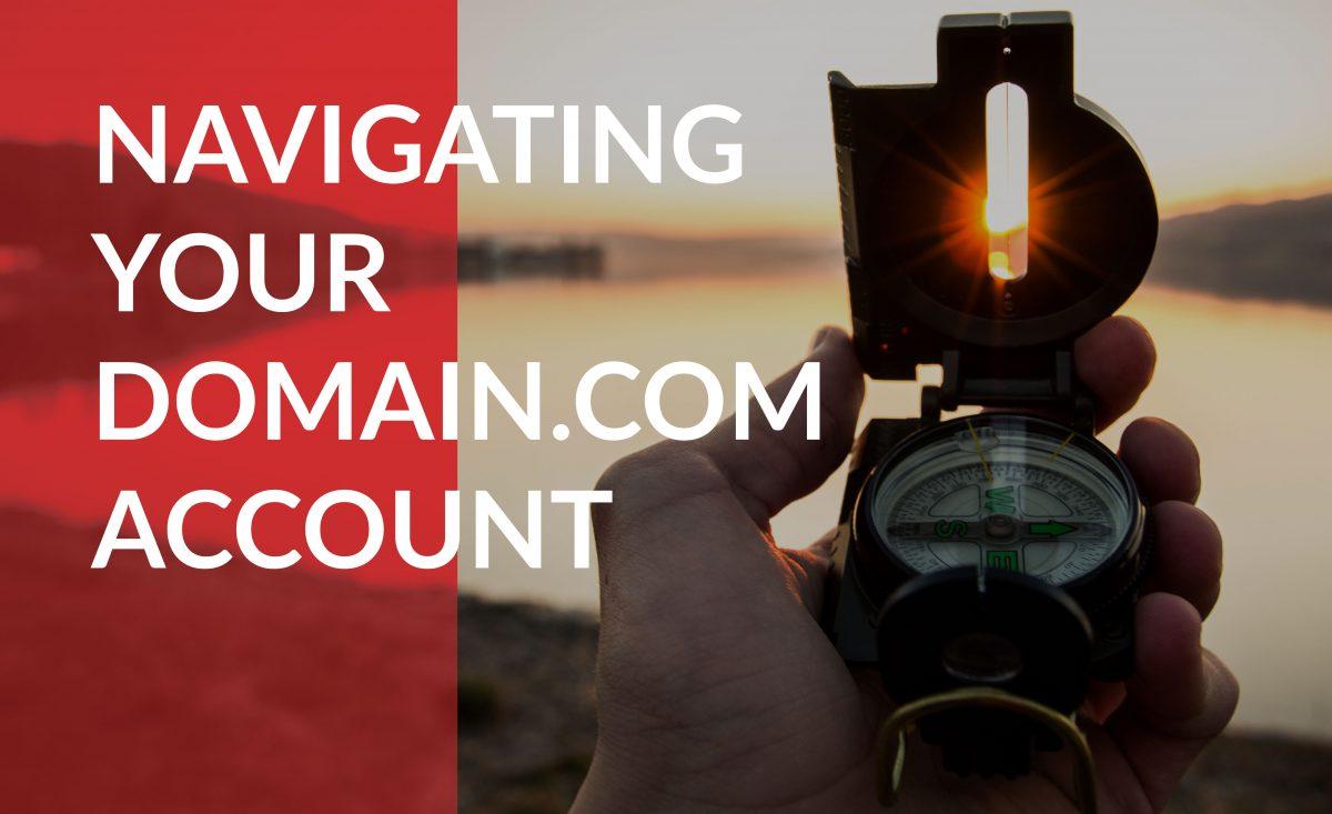 navigating your domain.com account